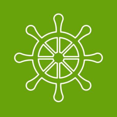 Flat wheel icon