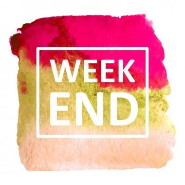 Background with text week end