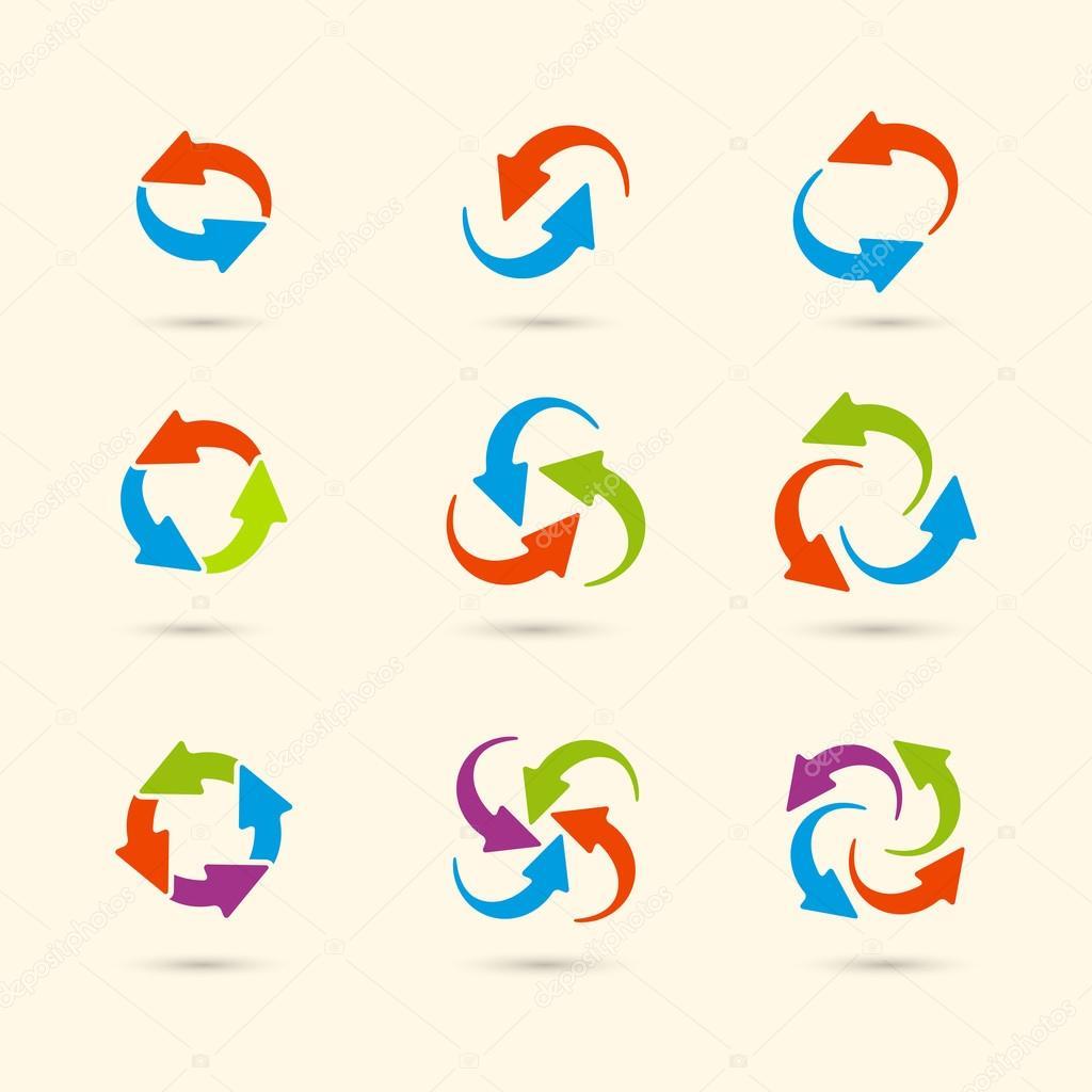 round colored arrows stock vector mara lingstad 76502097 rh depositphotos com