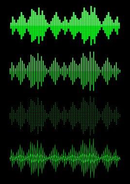 Sound equalizer graphic set