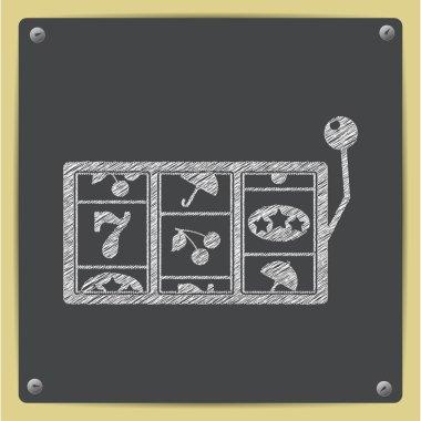 Vector slot icon. Eps10