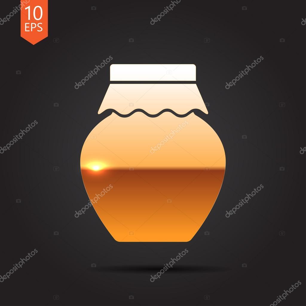 flache hausgemachte Marmelade Glas Vorlage — Stockvektor ...
