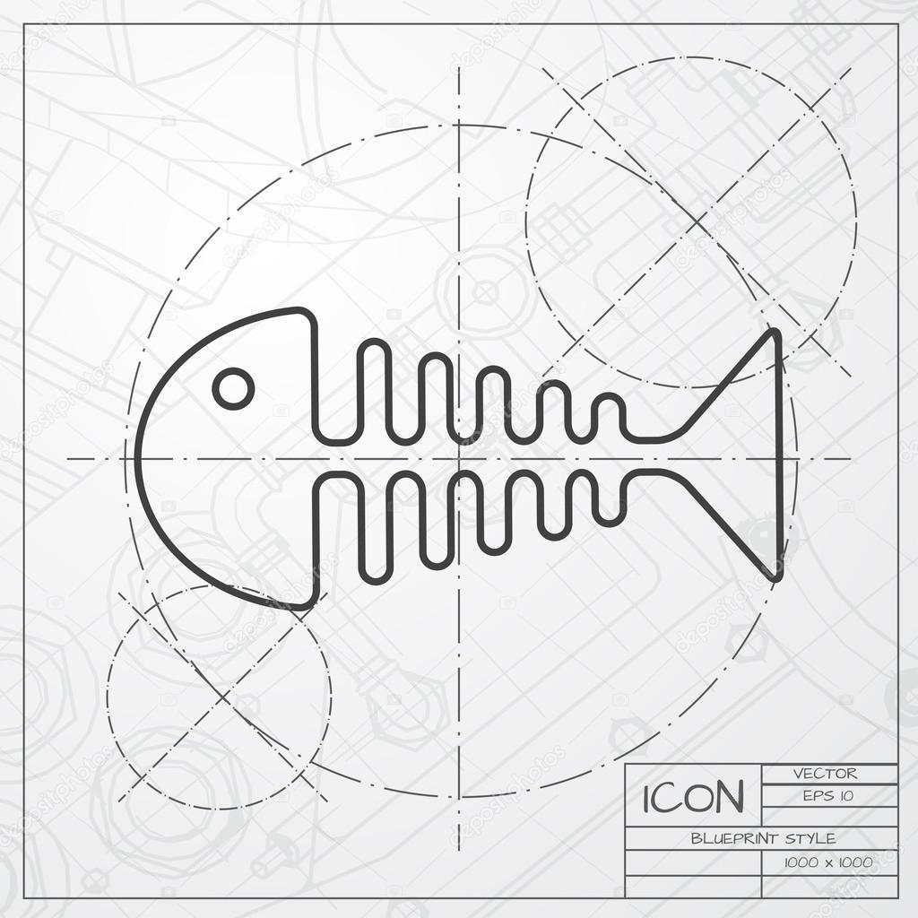 Espina de pez de fondo plano vector de stock maralingstad 86450988 espina de pez de fondo plano vector de stock malvernweather Choice Image