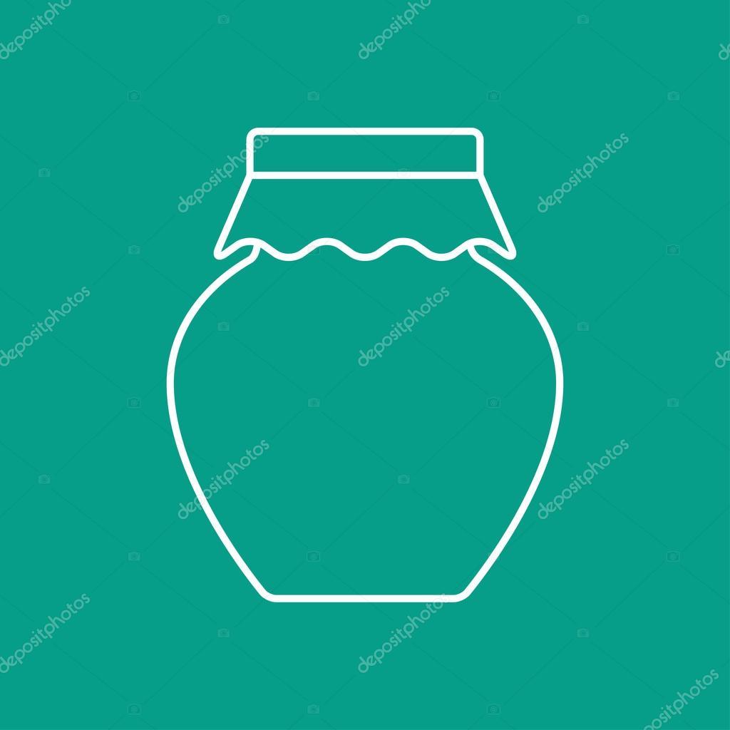 hausgemachte Marmelade Glas Vorlage — Stockvektor © mara_lingstad ...