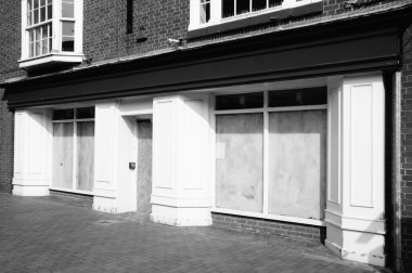 Closed down retail shop