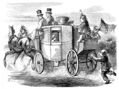 Georgian horsedrawn stagecoach