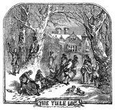 Fényképek The Christmas Yule Log