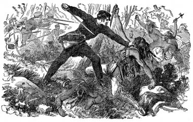 USA military fighting the native American Indians