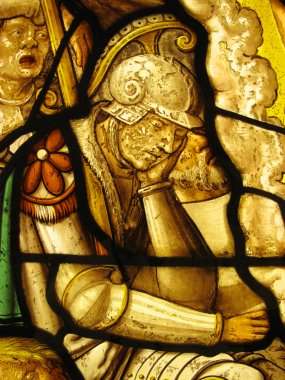 Roman Soldier, Medieval Stained Glass