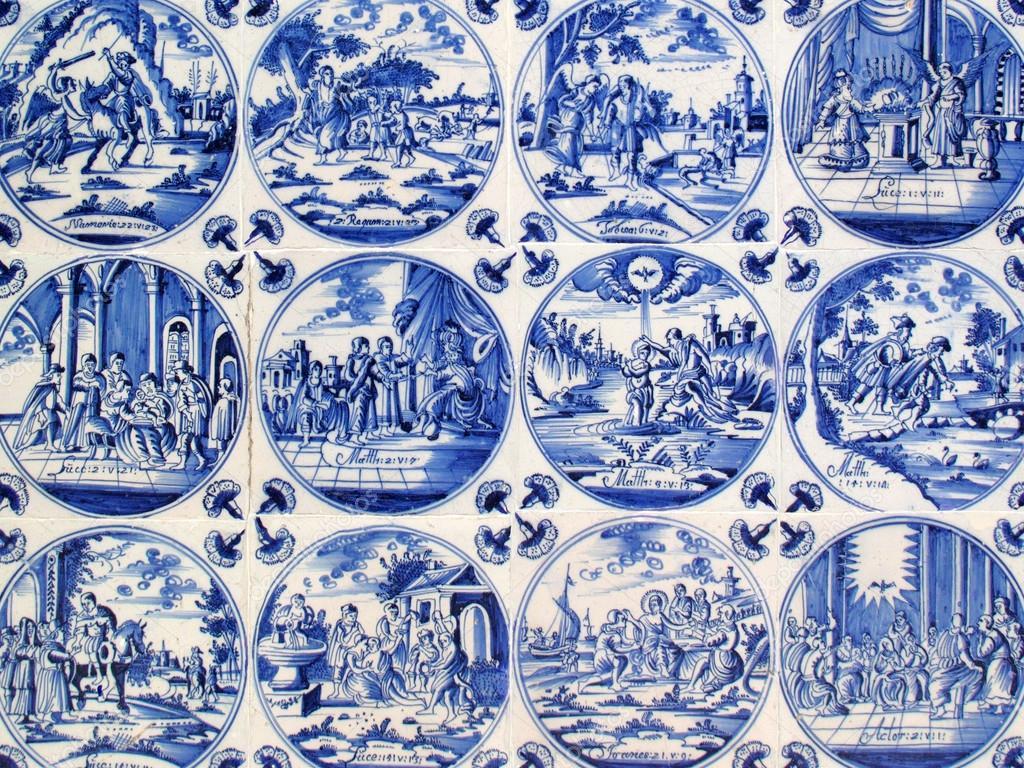 Delfts Blauwe Tegels : Blauwe delft tegels u stockfoto lenschanger