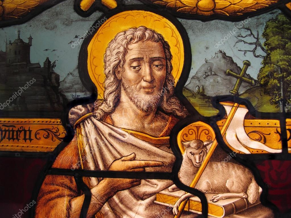 Jezus Christus Gekleurd Glas Stockfoto Lenschanger