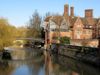 Trinity Hall, Cambridge University on River Cam