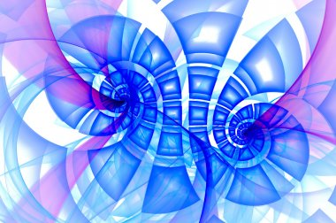 Abstract blue swirl fractal