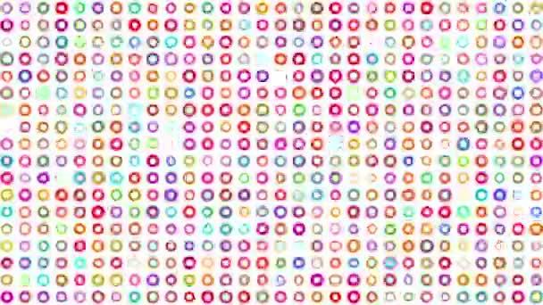 Vícebarevná abstraktní barevné puntíky pozadí na bílém pozadí