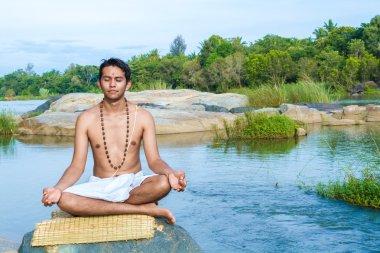 Young Hindu Meditates