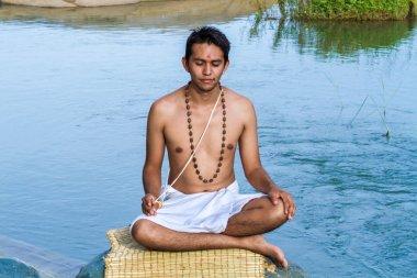 A Young Brahmin Meditating