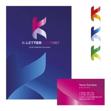 K-letter -  logo design concept