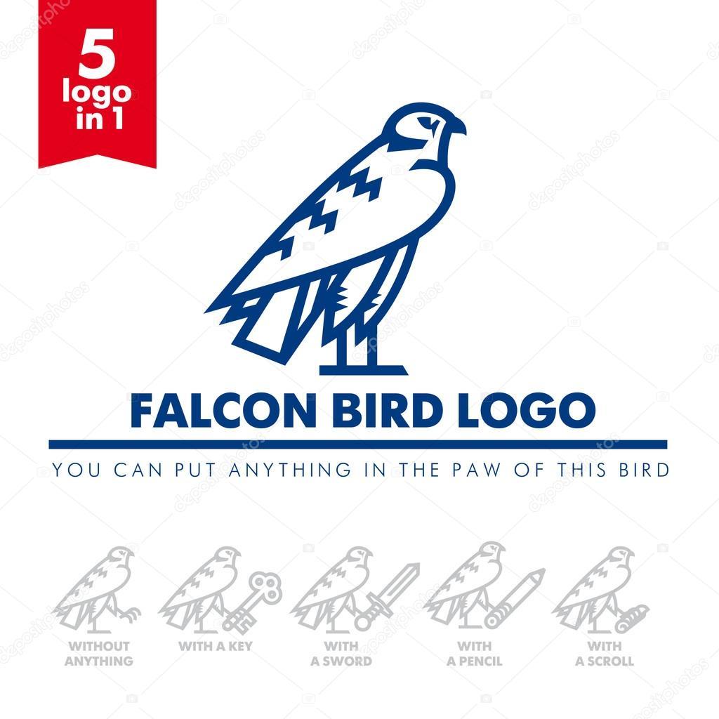 bird falcon logo 04