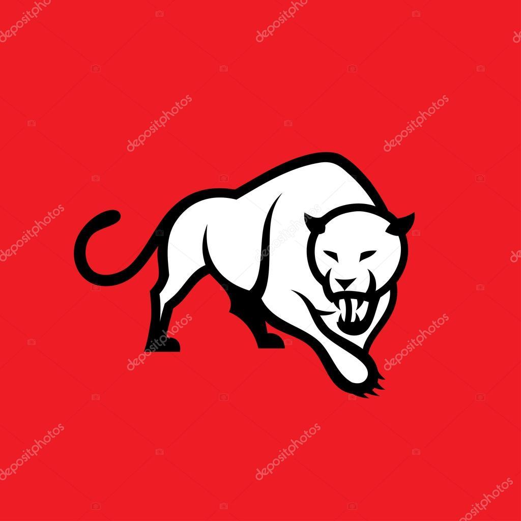 symbole de panth232re sur fond rouge � image vectorielle i