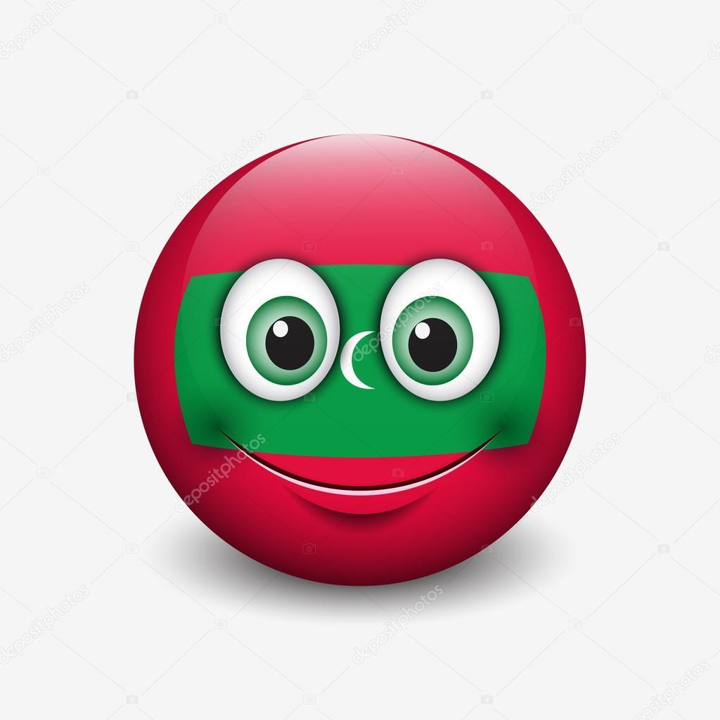 Maldives Flag Smiley Stock Vector C I Petrovic 112593398