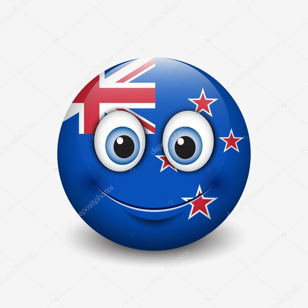 New Zealand flag smiley — Stock Vector © I Petrovic #112593448