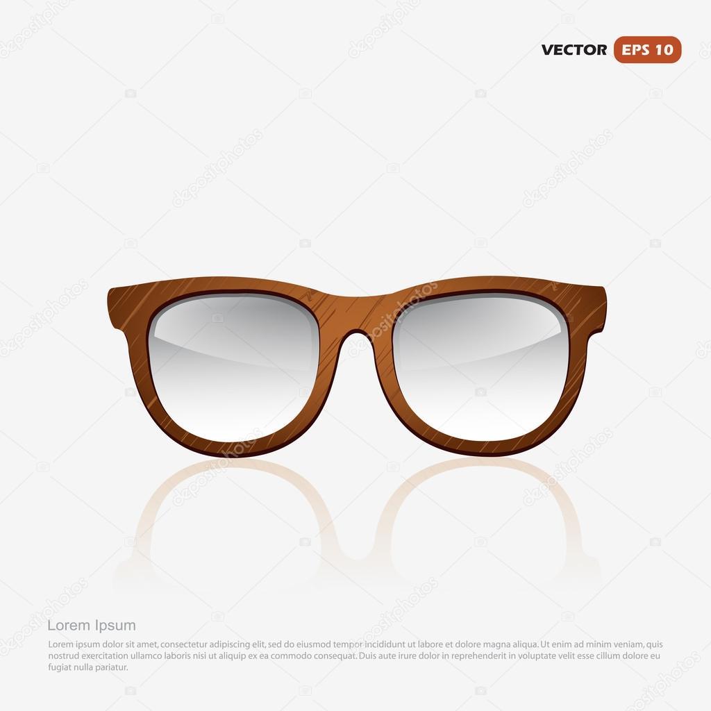 wooden eyeglasses frame stock vector 113443722 - Wooden Eyeglass Frames