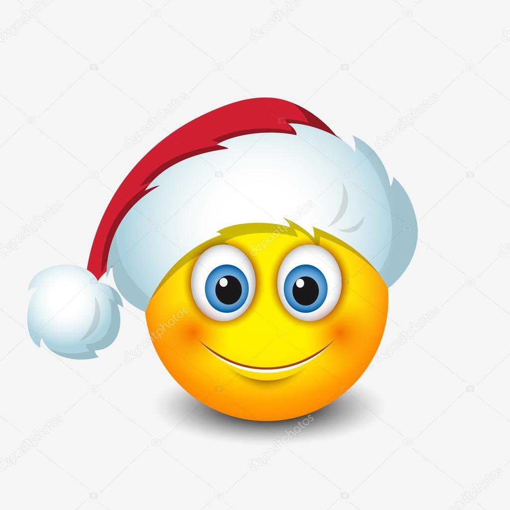 schattige kerstman emoticon stockvector i petrovic. Black Bedroom Furniture Sets. Home Design Ideas