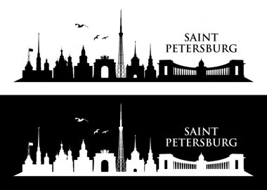 Saint Petersburg skyline - vector illustration clip art vector