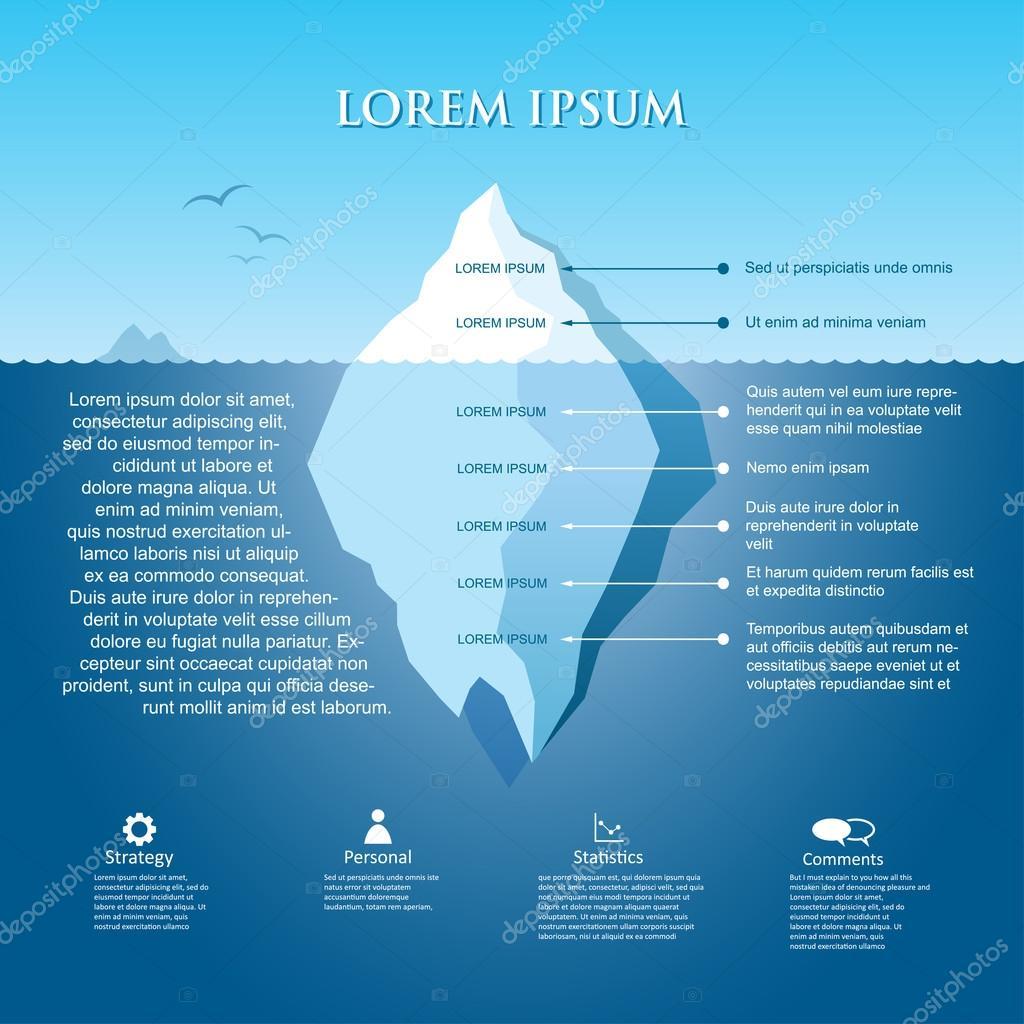 Iceberg infographic  illustration