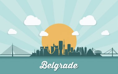 Belgrade city icon vector illustration icon