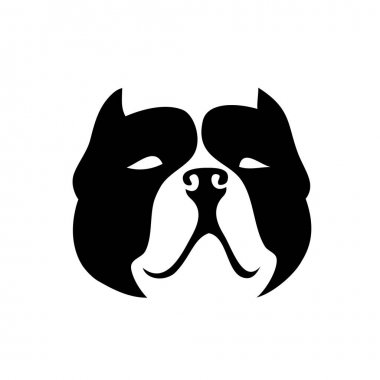 Pit bull icon vector illustration icon
