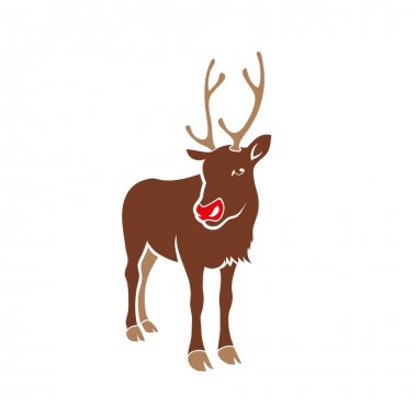 Reindeer icon vector illustration icon