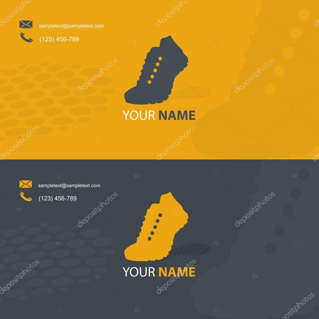 Card with sport shoe symbol