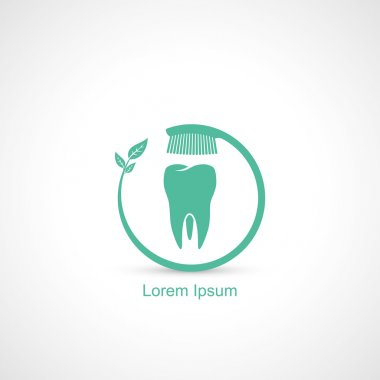 Toothbrush and tooth symbol