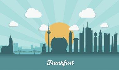 Frankfurt skyline - flat design