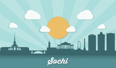 Sochi skyline - flat design