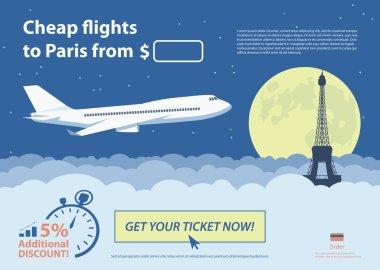 Flat travel banner