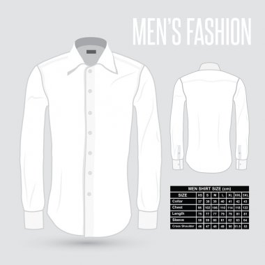 Men's white dress shirt