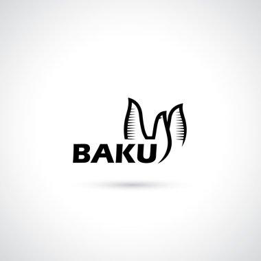 Baku symbol - flame towers