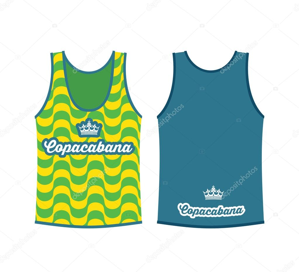 Tank top shirt with Copacabana pattern