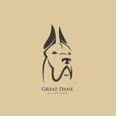 Great Dane dog logo