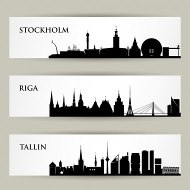 City skylines banners