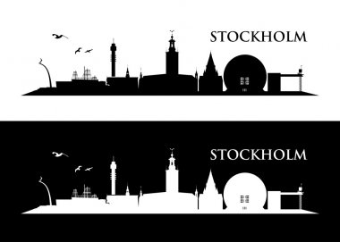 Card with Stockholm skyline