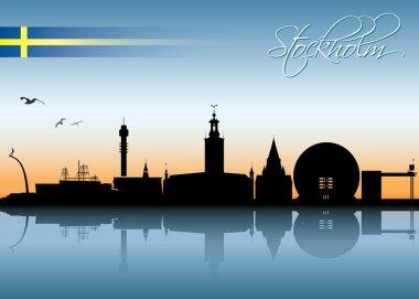 Card with Stockholm skyline