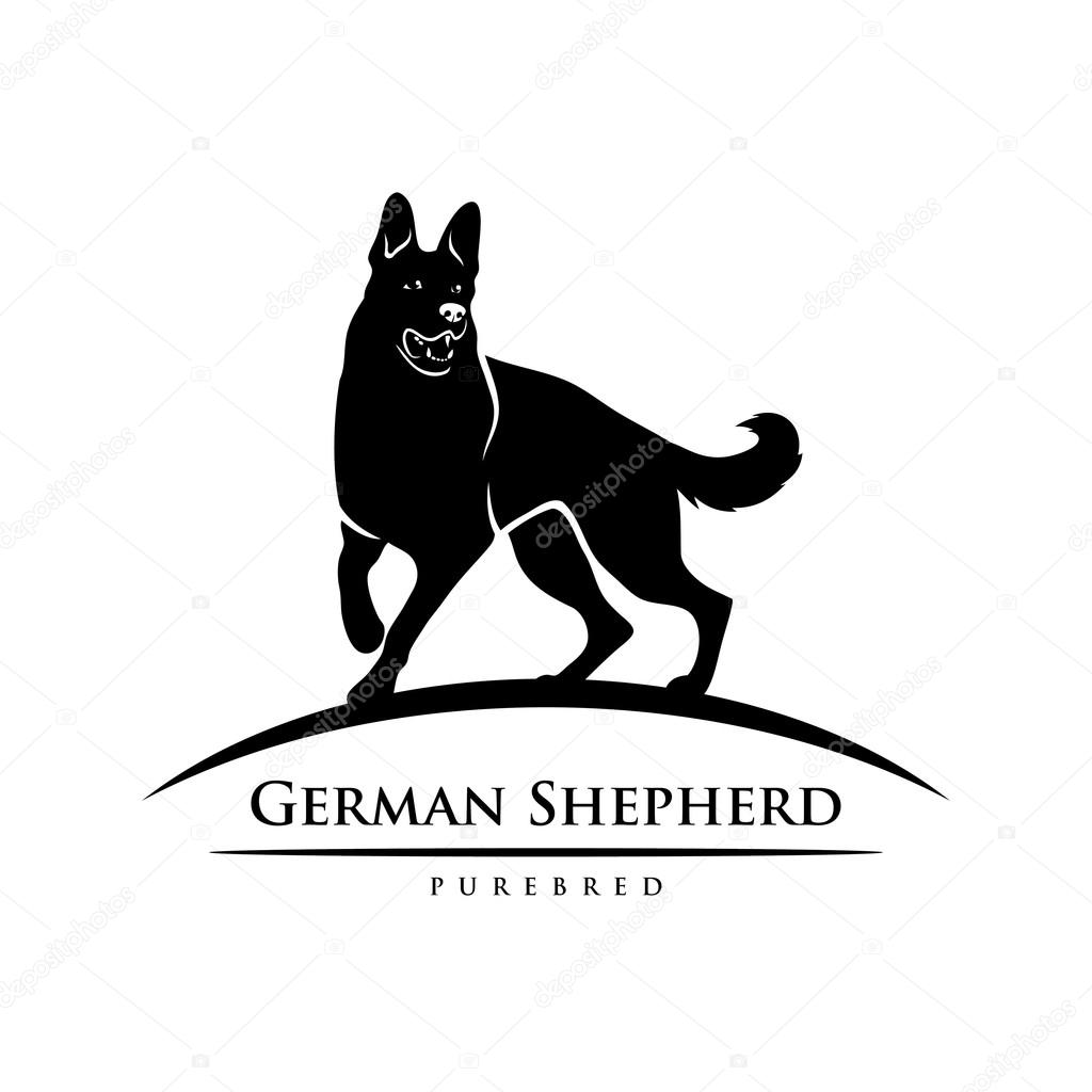 German shepherd dog symbol