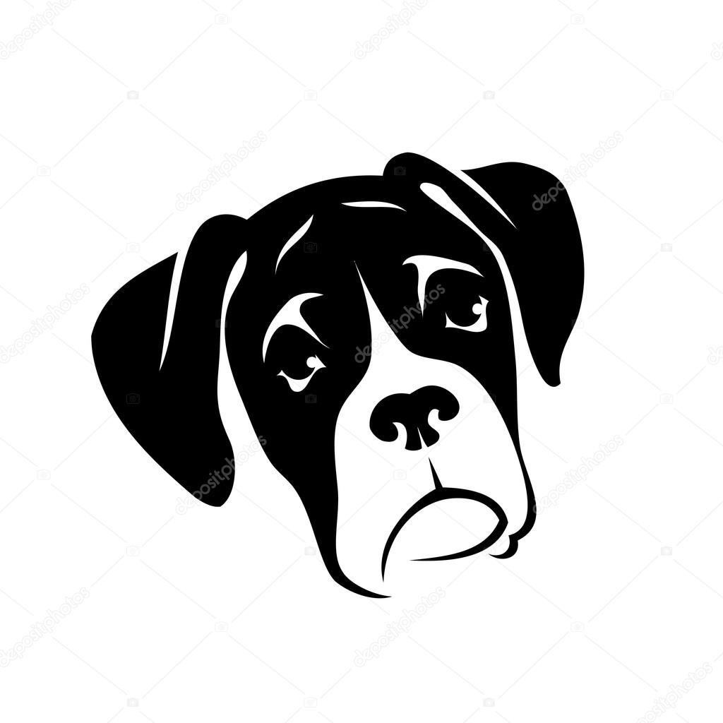 Cabeza De Perro Boxer Archivo Imágenes Vectoriales Ipetrovic