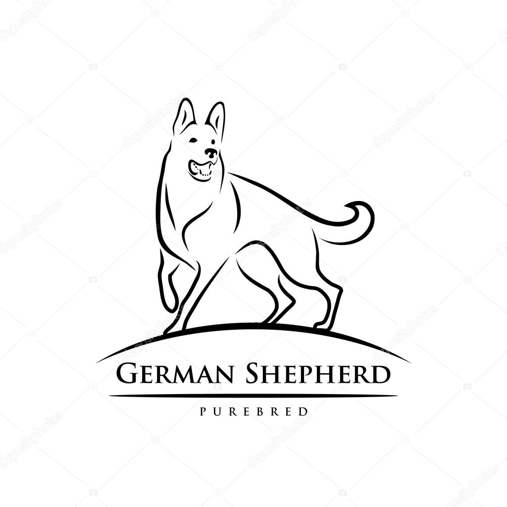 perro pastor aleman vector de stock 169 i petrovic 86124228