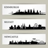 Photo Edinburgh, Belfast and  Newcastle City skyline