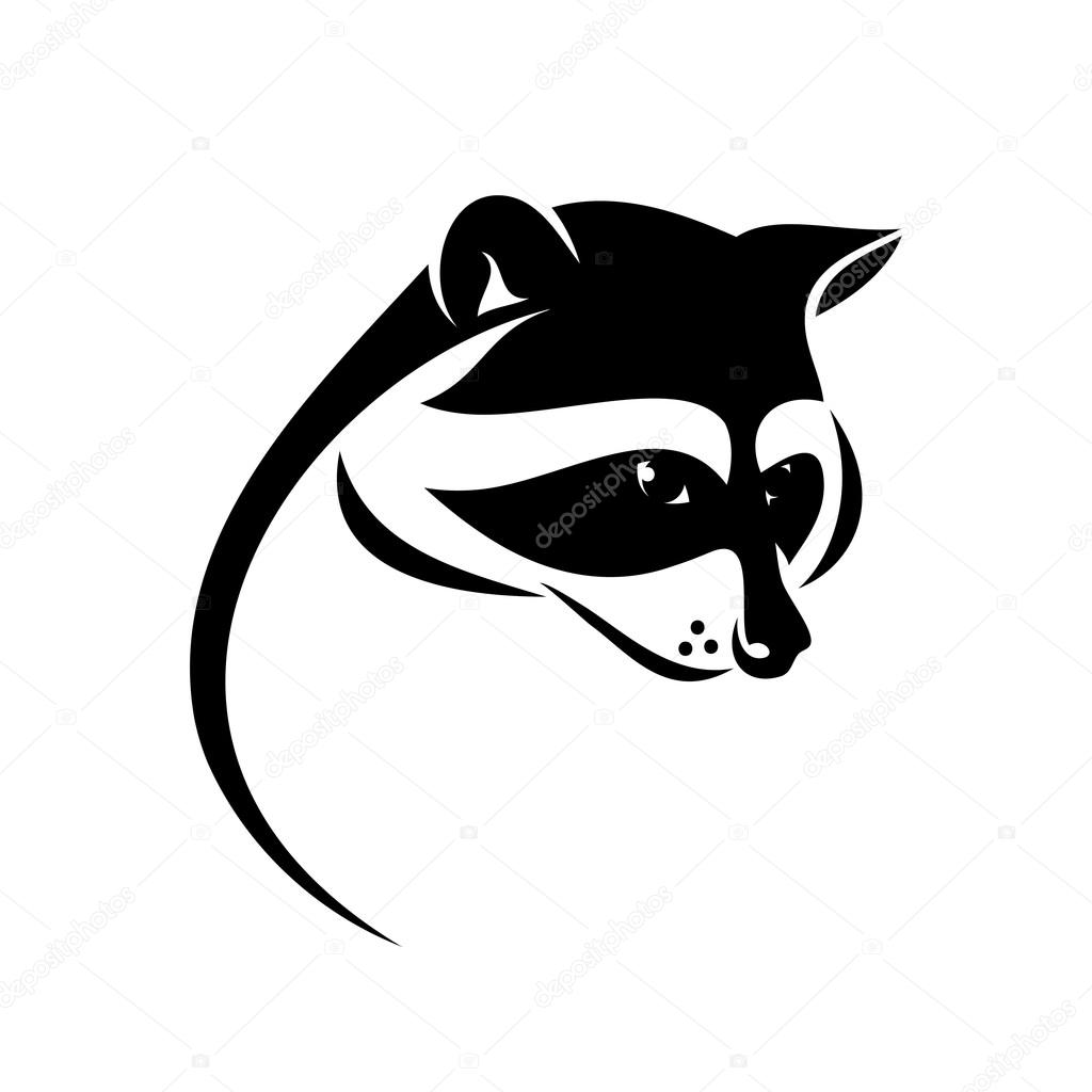 Raccoon label illustration — Stock Vector © I.Petrovic ... Raccoon Face Illustration