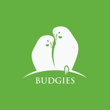 Budgies symbol  illustration